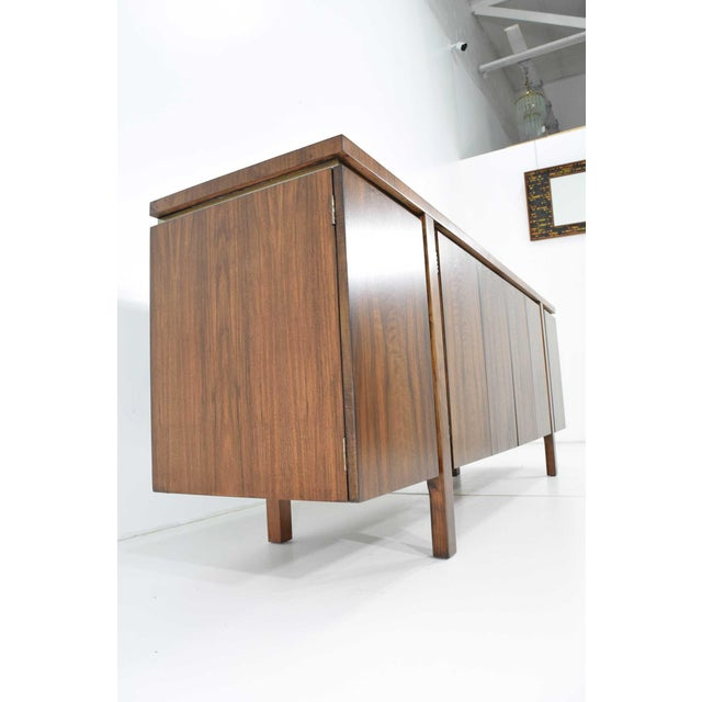 1960s Widdicomb Credenza or Sideboard in Walnut With Parquet Patterned Top For Sale - Image 11 of 13