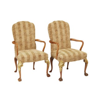 Circa 1890 English Armchairs - A Pair For Sale