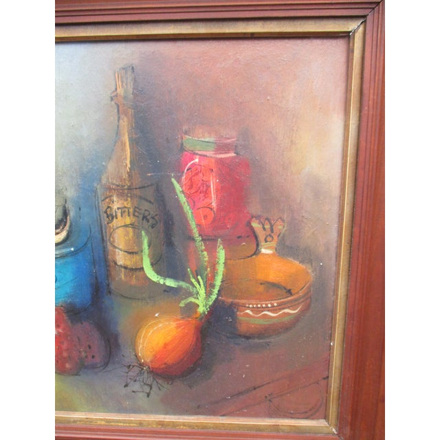 Modernist Abstract Ardoth Terrill Hughes Still Life Painting - Image 9 of 9