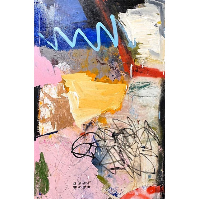 Lesley Grainger Lesley Grainger 'On a Roll' Original Abstract Painting For Sale - Image 4 of 4
