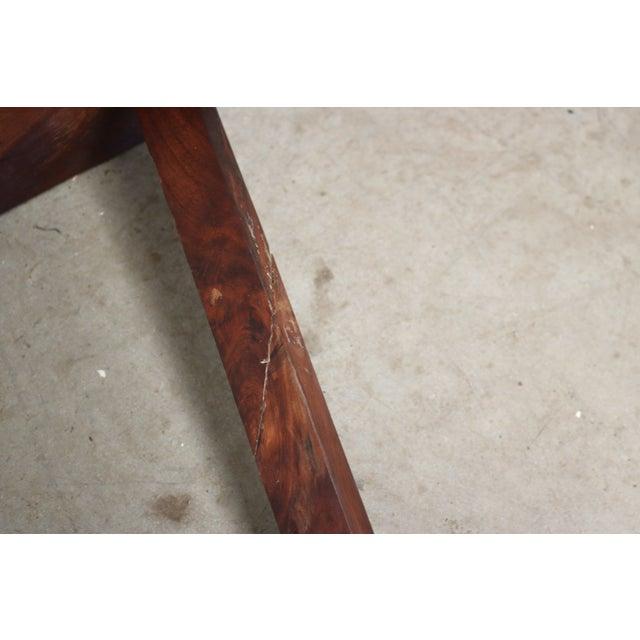 Inscribed Handmade Live Edge Coffee Table - Image 7 of 8