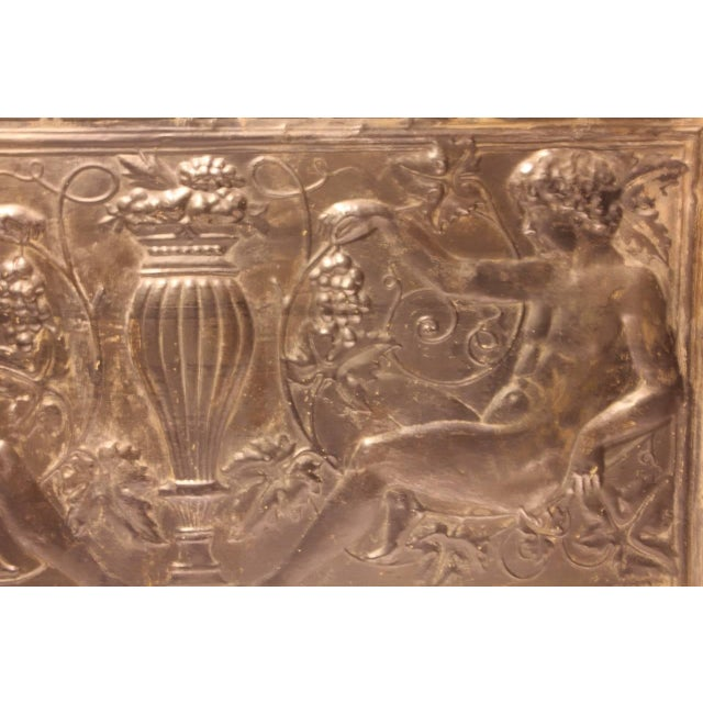 Neoclassical Antique Decorative Figural Tin Wall Panel For Sale - Image 3 of 5