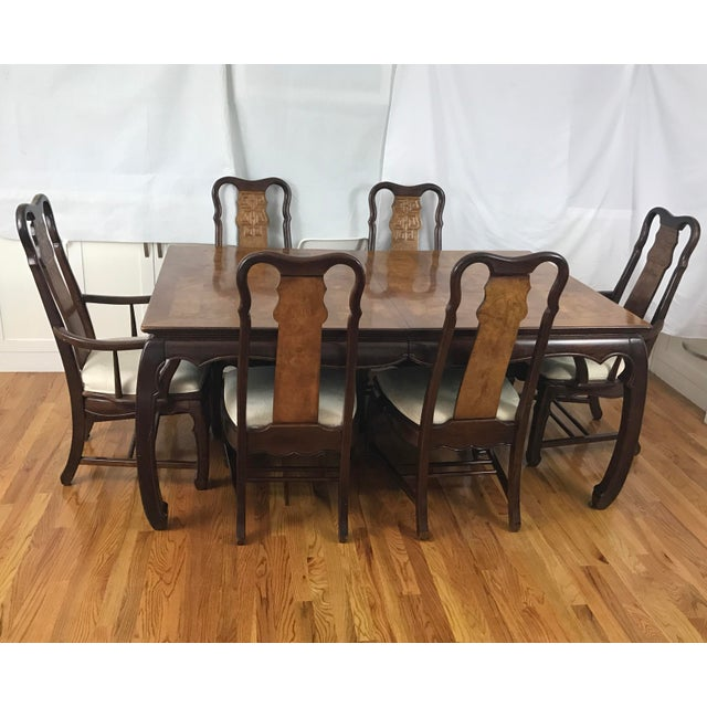 Chinese Chippendale Style Dining Table & Six Chairs- 7 Pieces - Image 4 of 11