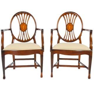 Niagara Furniture Round Back Inlaid Arm Chair - a Pair For Sale