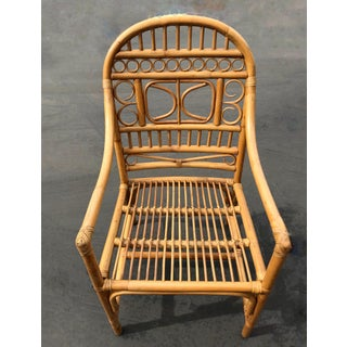 Chinese Chippendale Brighton Rattan Dining Chairs - Set of 8 Preview