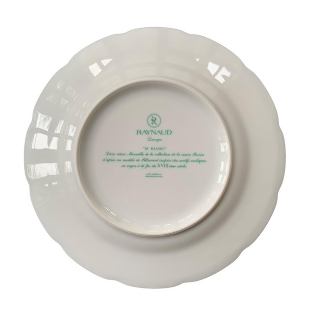 """Ceramic Raynaud Chinoiserie Dessert Plates in """"Si Kiang"""" Pattern - Set of 5 For Sale - Image 7 of 10"""