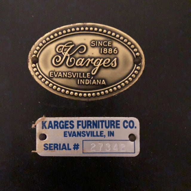 Chinoiserie Karges Furniture Black Lacquer Side Tables - a Pair For Sale - Image 10 of 11