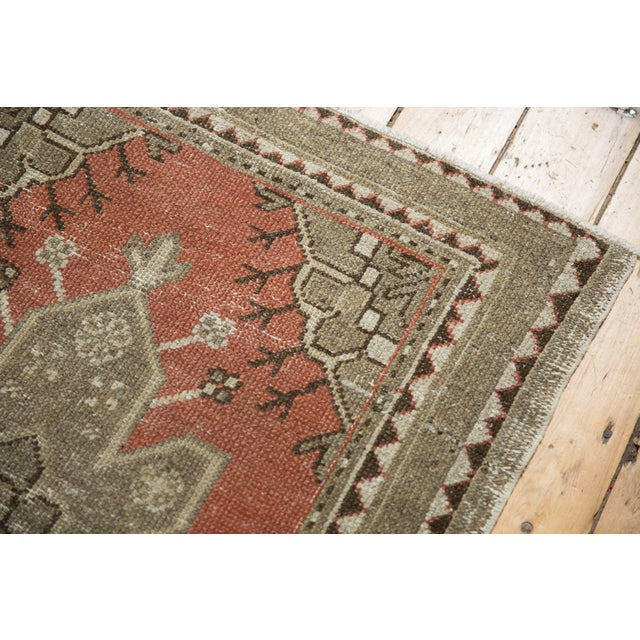 """Red Vintage Distressed Oushak Rug - 3'2"""" X 4'5"""" For Sale - Image 8 of 11"""