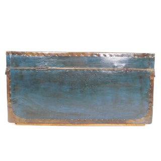 Antique Painted Leather Chest Preview