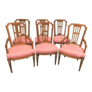 Henredon Louis XVI Style Cherry Dining Chairs- Set of 6 For Sale
