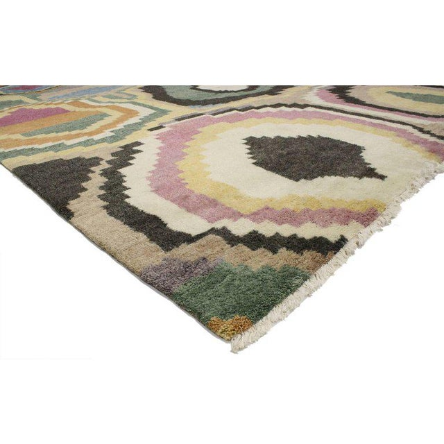 Bauhaus New Contemporary Moroccan Rug With Post-Modern Bauhaus Style - 10′4″ × 12′4″ For Sale - Image 3 of 4