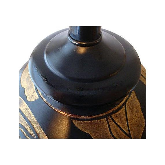 Art Deco Dancing Sprites Black & Gold Lamp For Sale - Image 4 of 5