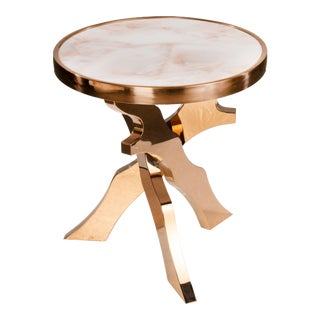 Bracci Marble Top Side Table For Sale