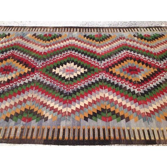 Vintage Turkish Kilim Rug - 6′ × 11′ For Sale - Image 5 of 6