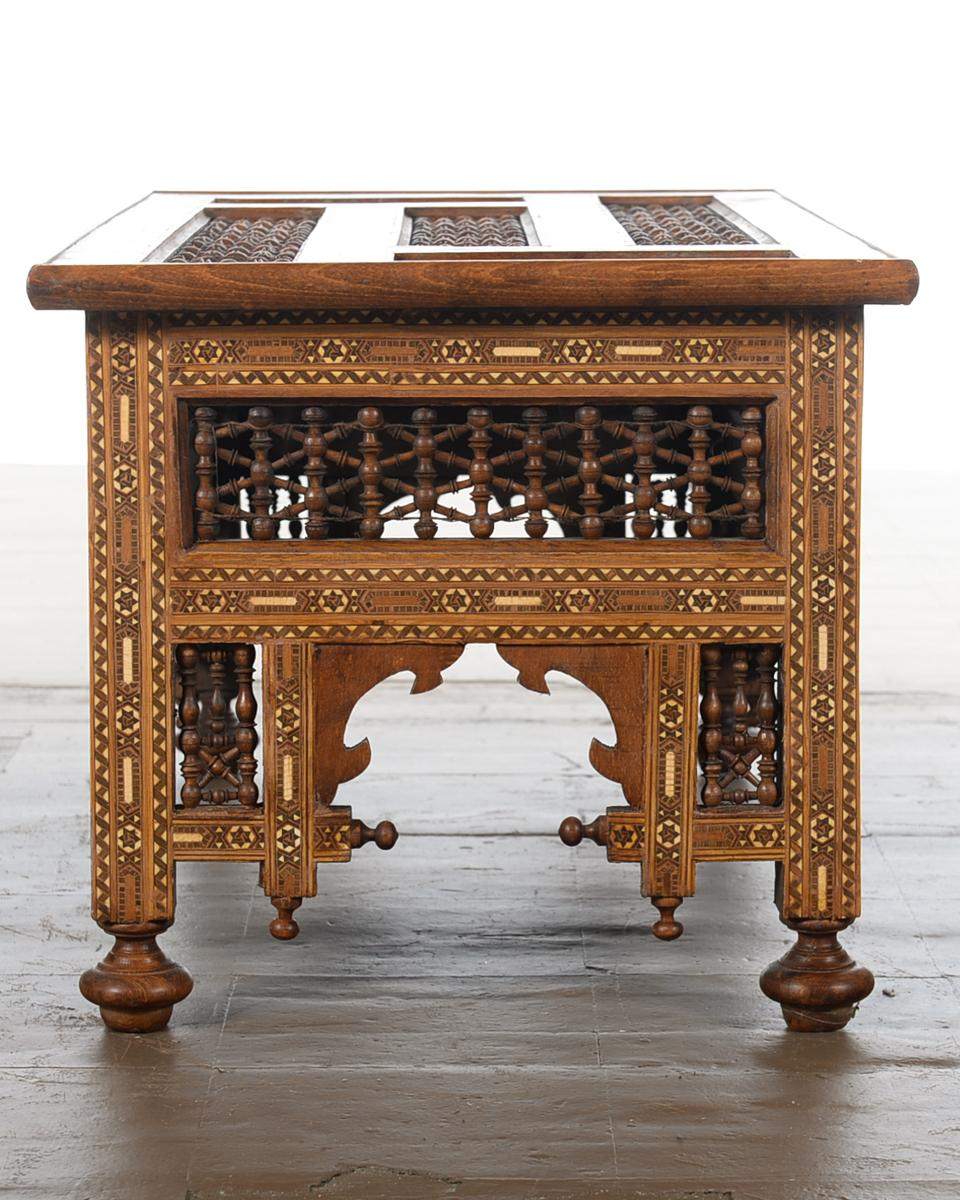 Antique Hand Made Inlaid Syrian Coffee Table Chairish