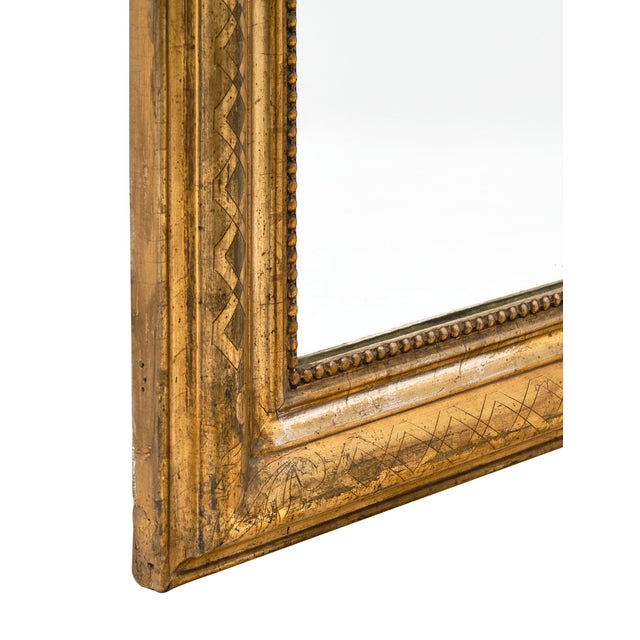 Antique French Louis Philippe Period Mirror For Sale - Image 9 of 10