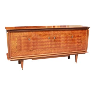 French Art Deco Light Macassar Ebony With Rosewood Sideboard / Buffet , circa 1940s