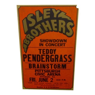 Vintage Isley Brothers Concert Poster For Sale