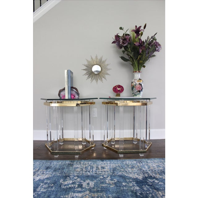 Charles Hollis Jones Style Lucite Tables - A Pair - Image 4 of 10