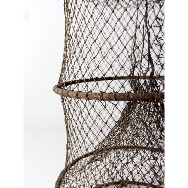 Vintage Fyke Fishing Net For Sale - Image 5 of 9