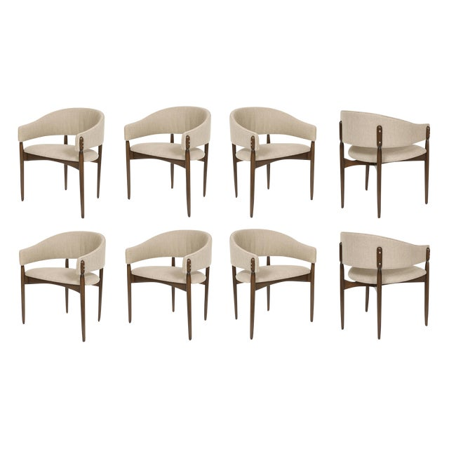 Not Yet Made - Made To Order Set of Eight Enroth Dining Chairs For Sale - Image 5 of 5