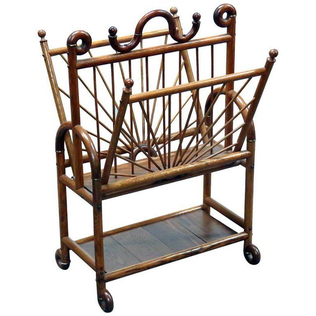 Victorian Oak Magazine Rack For Sale - Image 10 of 10