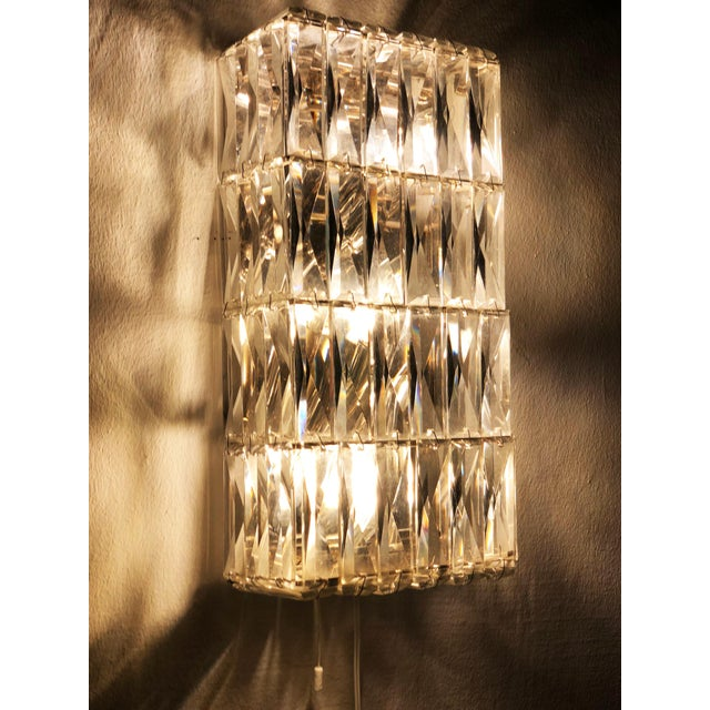 Pair of Austrian Crystal Sconces by Bakalowits and Sohne For Sale - Image 6 of 11