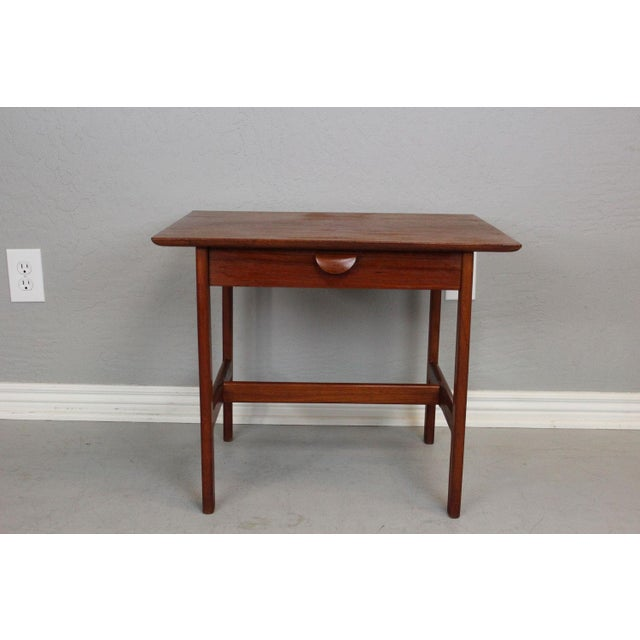 Country George Tanier Teak Side Table by P. Jeppeson For Sale - Image 3 of 9