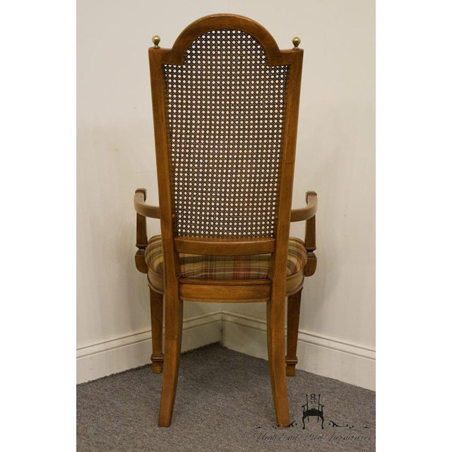 Late 20th Century Vintage Thomasville Furniture Cellini Collection Cane Back Dining Arm Chair For Sale - Image 9 of 13