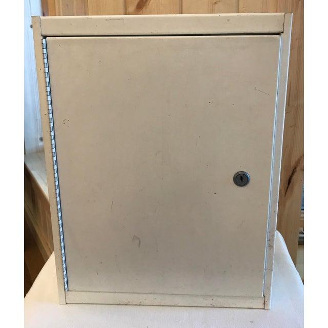 Vintage Metal Wall Cabinet - Image 2 of 10