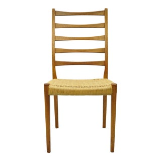Vintage Mid Century Danish Swedish Modern Svegards Markaryd Teak Rope Dining Chair For Sale