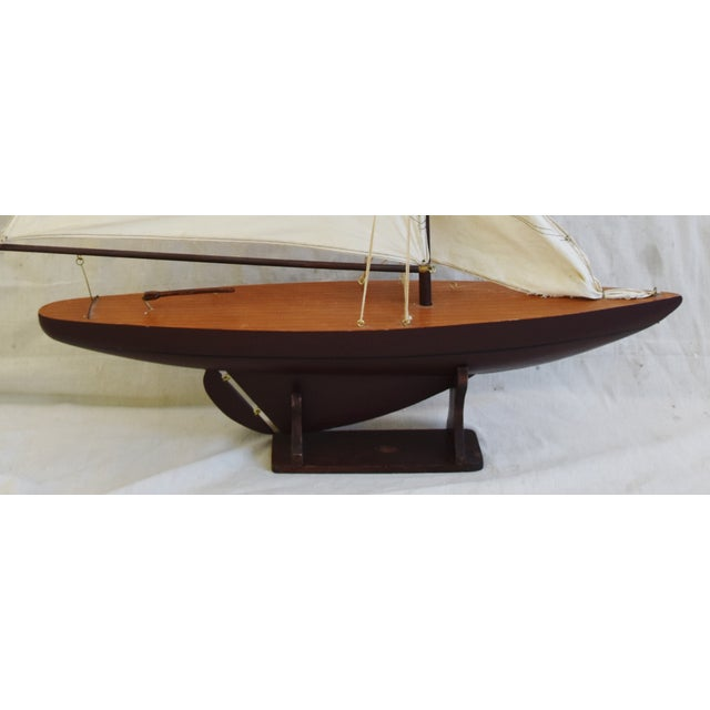 Vintage Nautical Sailing Ship/Boat Model W/Stand For Sale - Image 11 of 13