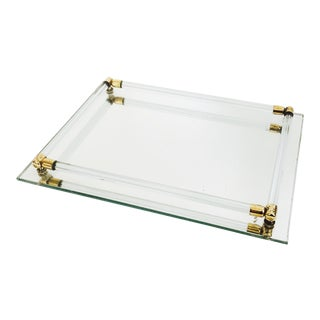 Vintage Mirrored Glass Tray