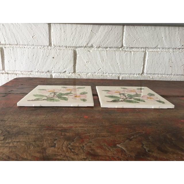 Franciscan Desert Rose Trivets or Tiles - a Pair - Image 5 of 7