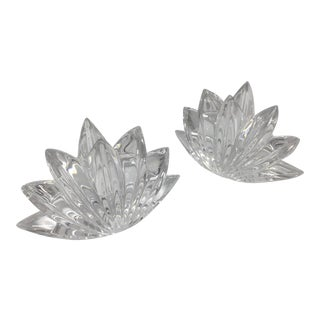 Vintage Crystal Candlestick Holders - A Pair For Sale