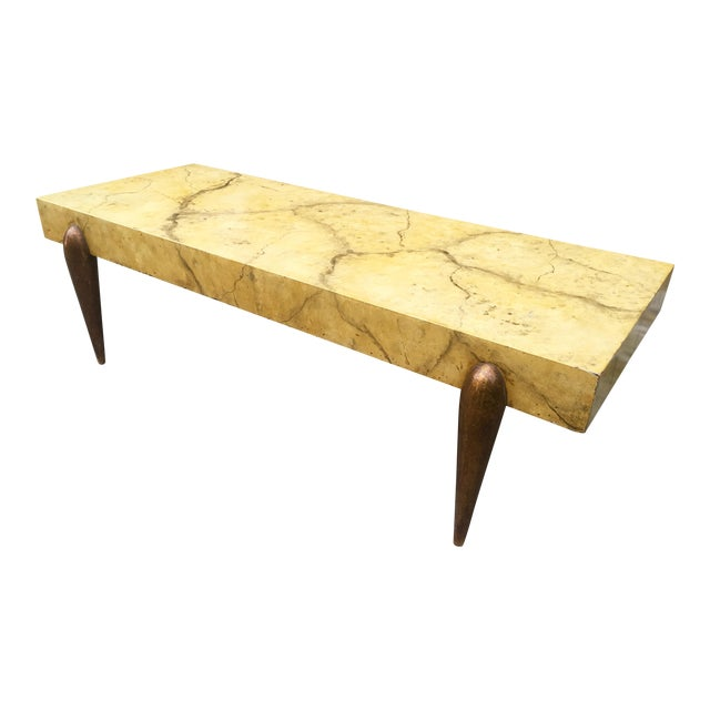 Mid Century Faux Marble Coffee Table - Image 1 of 7