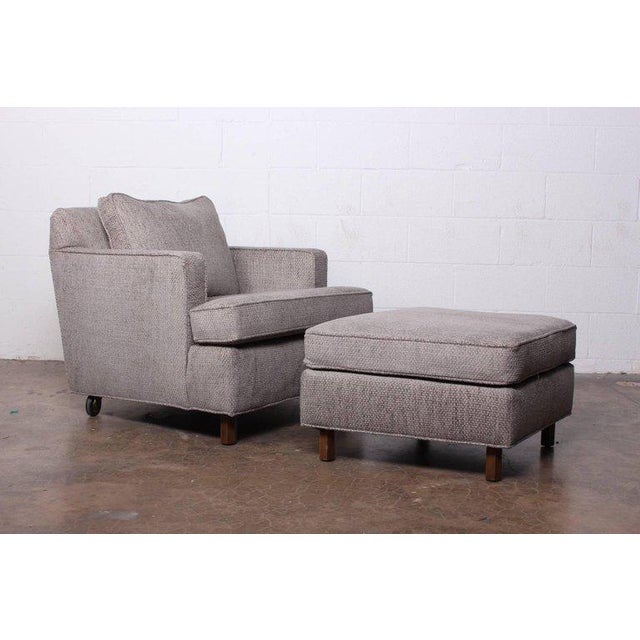 1950s Lounge Chair and Ottoman by Edward Wormley for Dunbar For Sale - Image 5 of 11