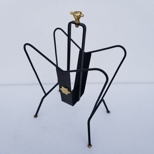 1950s Jacques Adnet Magazine Rack For Sale - Image 10 of 11