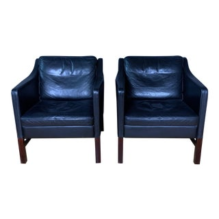 1970s Erik Marquardsen and Takashi Okamura Admiral Lounge Chairs - a Pair For Sale