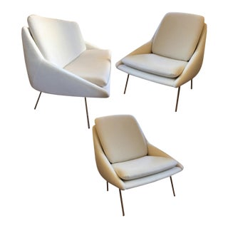 Joseph-André Motte for Steiner Set of 1 Couch and 2 Chairs For Sale