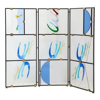 Italian Murano Glass Screen by Alberto Toini For Sale