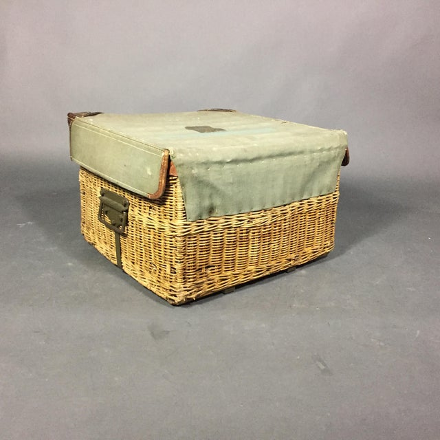 Vintage Swiss Army Military Basket, 1940s, Switzerland For Sale - Image 9 of 10