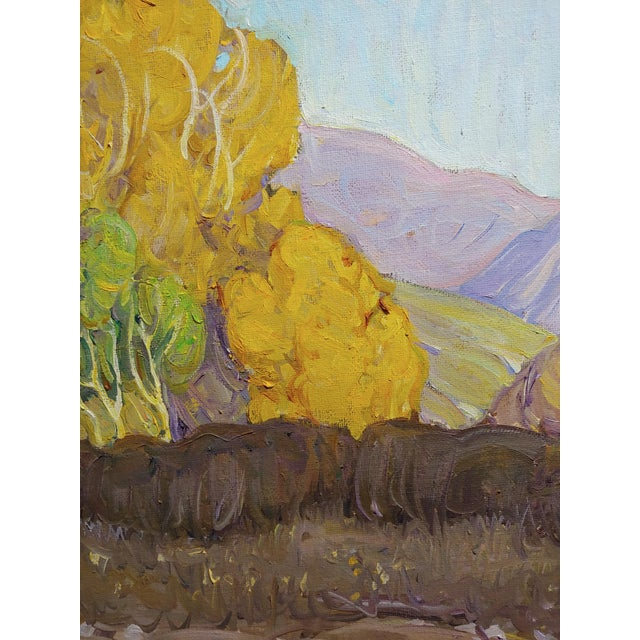 1980s Tim Solliday -Beautiful Fall California Landscape - Oil Painting For Sale - Image 5 of 10