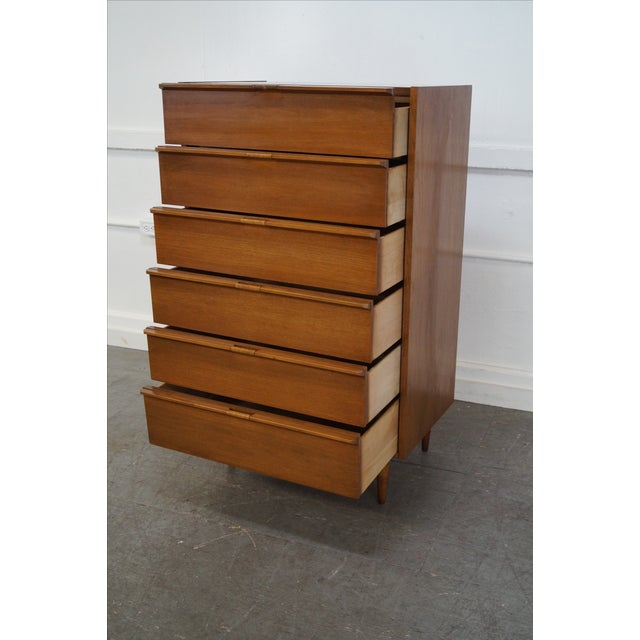 Mid-Century Danish Influenced Walnut Tall Chest - Image 2 of 10