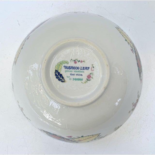 Vintage Tobacco Leaf Fine China Medium Salads Serving Bowl For Sale - Image 10 of 13