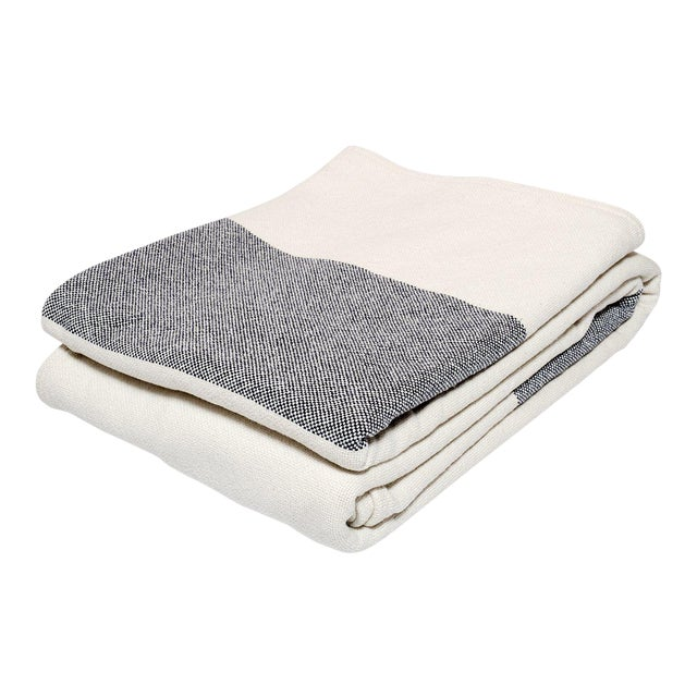 Bold Stripe Blanket Indigo - Twin For Sale