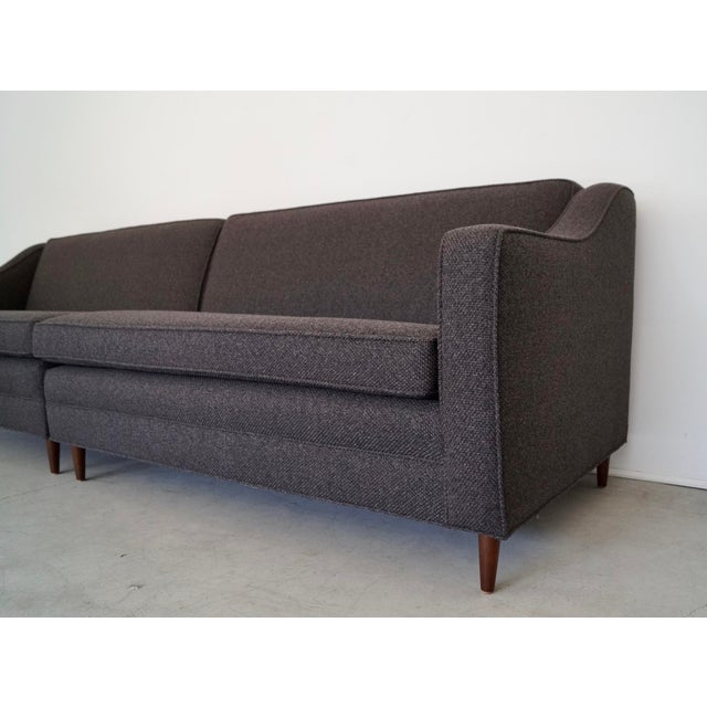 Mid-Century Modern Reupholstered 3-Piece Sectional Sofa For Sale - Image 10 of 13