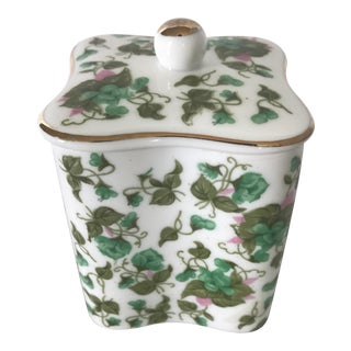 Mid-Century Ceramic & Gold Lidded Garden Box For Sale