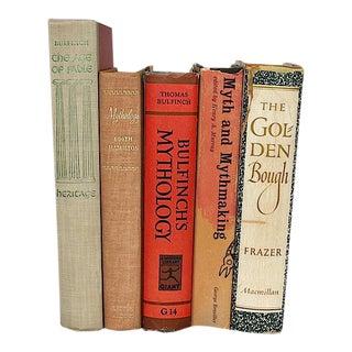 Vintage Decorative Mythology Books - Set of 5