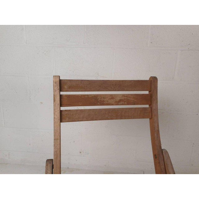 Brown Vintage Modern Wood Folding Chairs - Set of 5 For Sale - Image 8 of 11